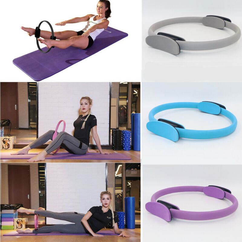 Pilates Ring Dual Grip Magic Circle Body Exercise Fitness Weight Yoga Tool Kit Fitness Yoga Shape Pilates Ring