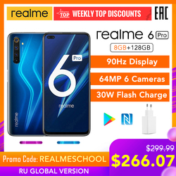 realme 6 Pro Global Version 8GB RAM 128GB ROM Snapdragon 720G 30W Flash Charge 4300mAh 64MP Camera NFC EU Charger Play Store