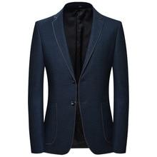 2020 New Fashion Brand Blazer Jacket Men Single Bu