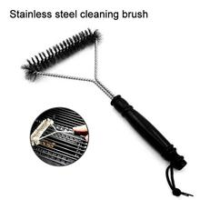 Stainless Steel Barbecue Grill Long handle Plastic Cleaning Brush Durable Easy to Use Wire Cleaner Scrubbing BBQ Tool