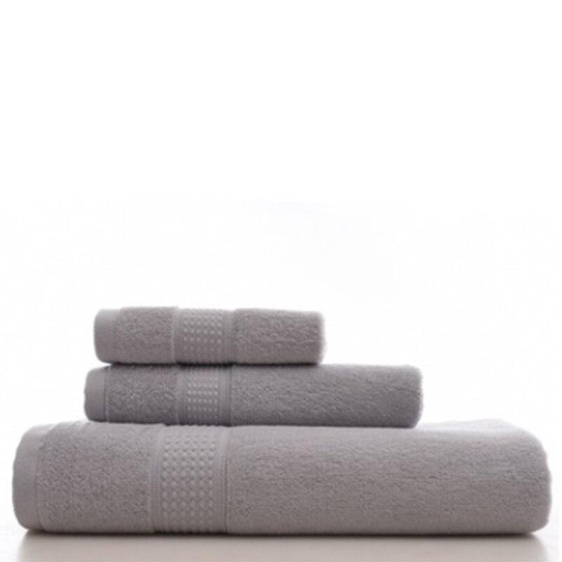 Couleur unie serviette longue agrafe coton bain combinaison coton publicité cadeau hôtel ménage serviette bain serviette ensemble cadeau