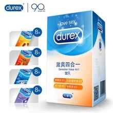 Durex 32Pcs/Pack Sensation Value 4in1 Ultra Thin Sexy Lubricated Condoms Sex Toys Condom for men Vanilla Flavor