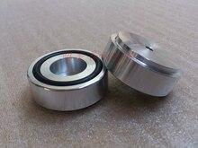 4 pièces 44*17mm plein aluminium amplificateur pieds avec anneau en caoutchouc haut parleur pieds B Type