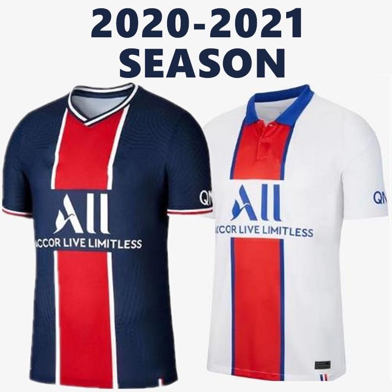 2020 2021 Psg Home Soccer Jersey Mbappe Neymar Jr Cavani Verratti Kimpembe Dani Alves Di Maria 20 21 Paris Away Tops Tees T Shirts Aliexpress