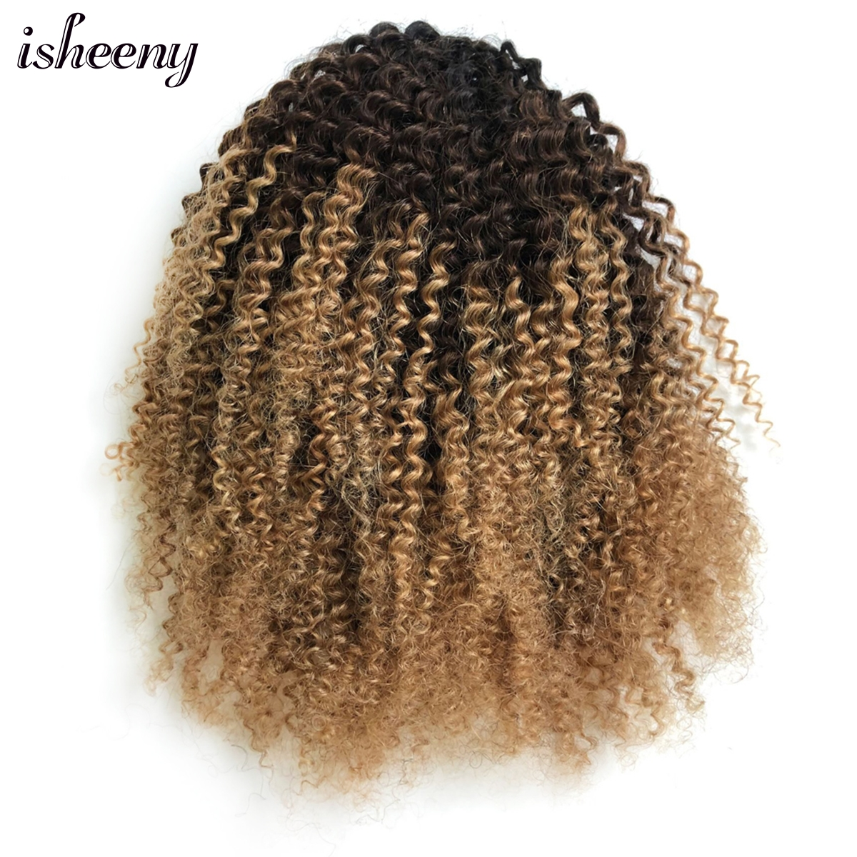 Afro Kinky Curly Ponytail Extensions Clip-Ins 10