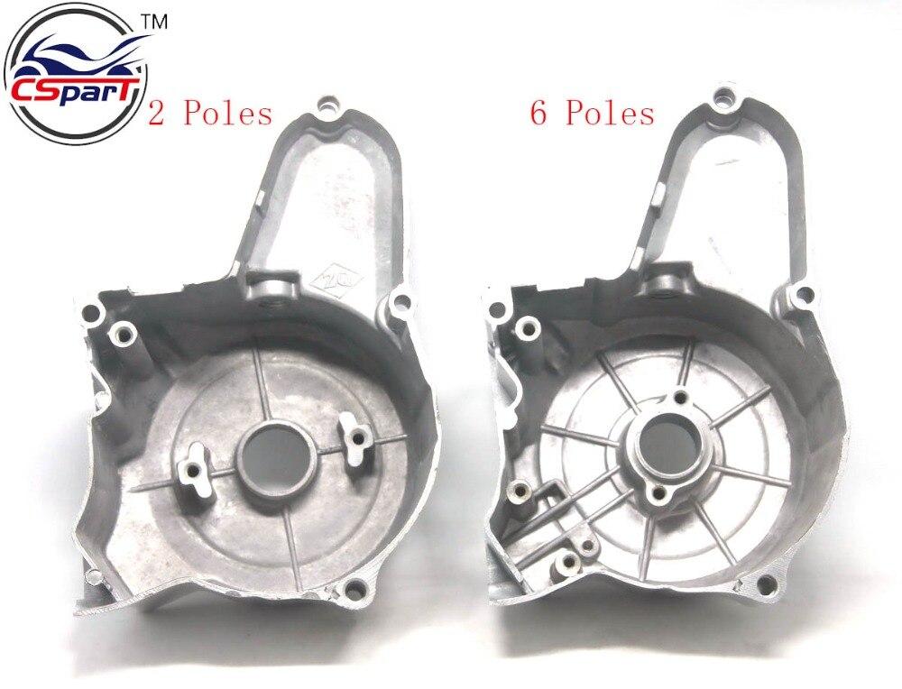2 6 Poles Upper Engine Magnetor Side Cover 50CC 70CC 110CC 125CC  Taotao ZongShen Lifan Dirt Bikes Pit Bike Parts ATV Quad Parts