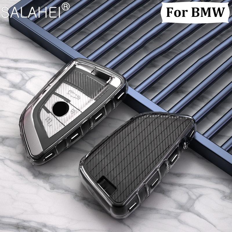 Новый мягкий ТПУ чехол для автомобильного ключа чехол для BMW X1 X3 X5 X6 X7 1/3/5/6/7 серии G30 G20 G32 G11 F20 Z4 F48 F39 G01 G02 F15 F16 G07