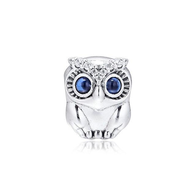 تألق البومة عيون كبيرة خرز كريستالي لسحر أساور 2019 خريف 925 فضة مجوهرات خرز تميمة لصنع المجوهرات