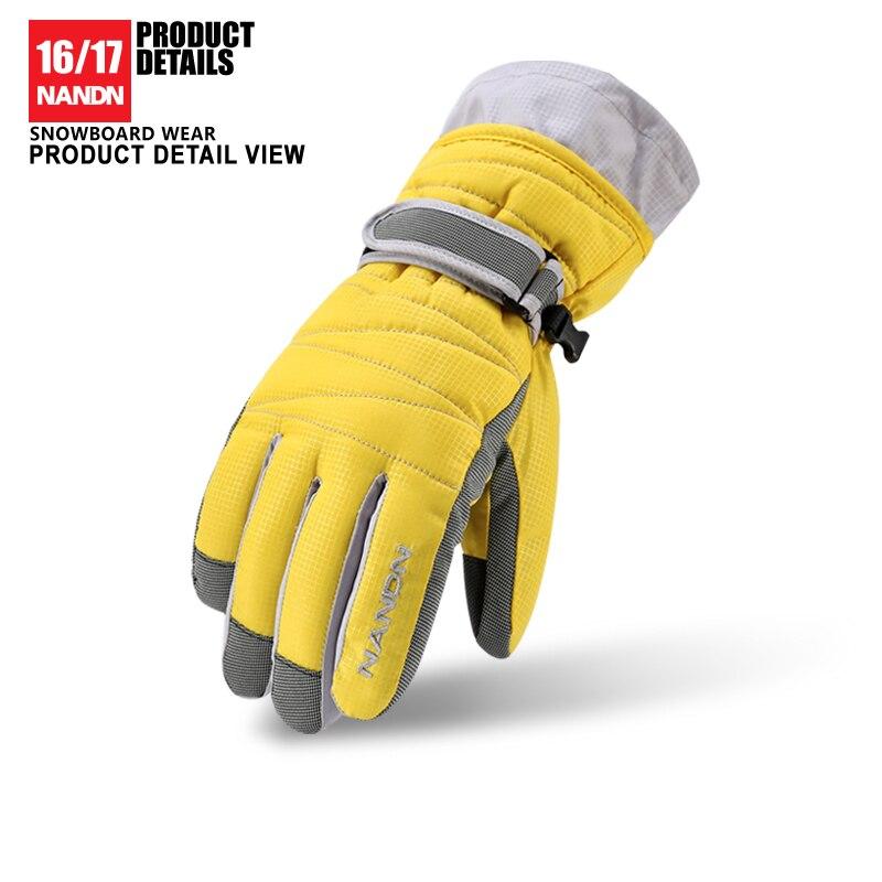 NANDN  Ski Gloves Snowboard Gloves Snowmobile Motorcycle Riding Winter Gloves Windproof Waterproof Unisex Snow Gloves