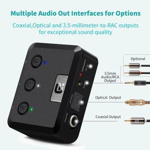 Image 3 - Bluetooth 5.0 Aptx Hd Ll Lage Latency Ontvanger Draadloze Stereo Audio Adapter Digitale Glasvezel Coaxiale Rca Uitgang