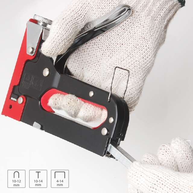 Hot Nail Shooter for DIY Home Decor Furniture Stapler Manual Stapler with 600 Stapler