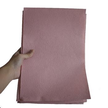 1MM 11 #215 8 calowy różowy filc arkusz DIY Handmade nietkana tkanina filcowa poliester kwiaty tkaniny robótki krawiectwo zabawki lalki filc #8230 tanie i dobre opinie CN (pochodzenie) felt craft 20 Sztuk