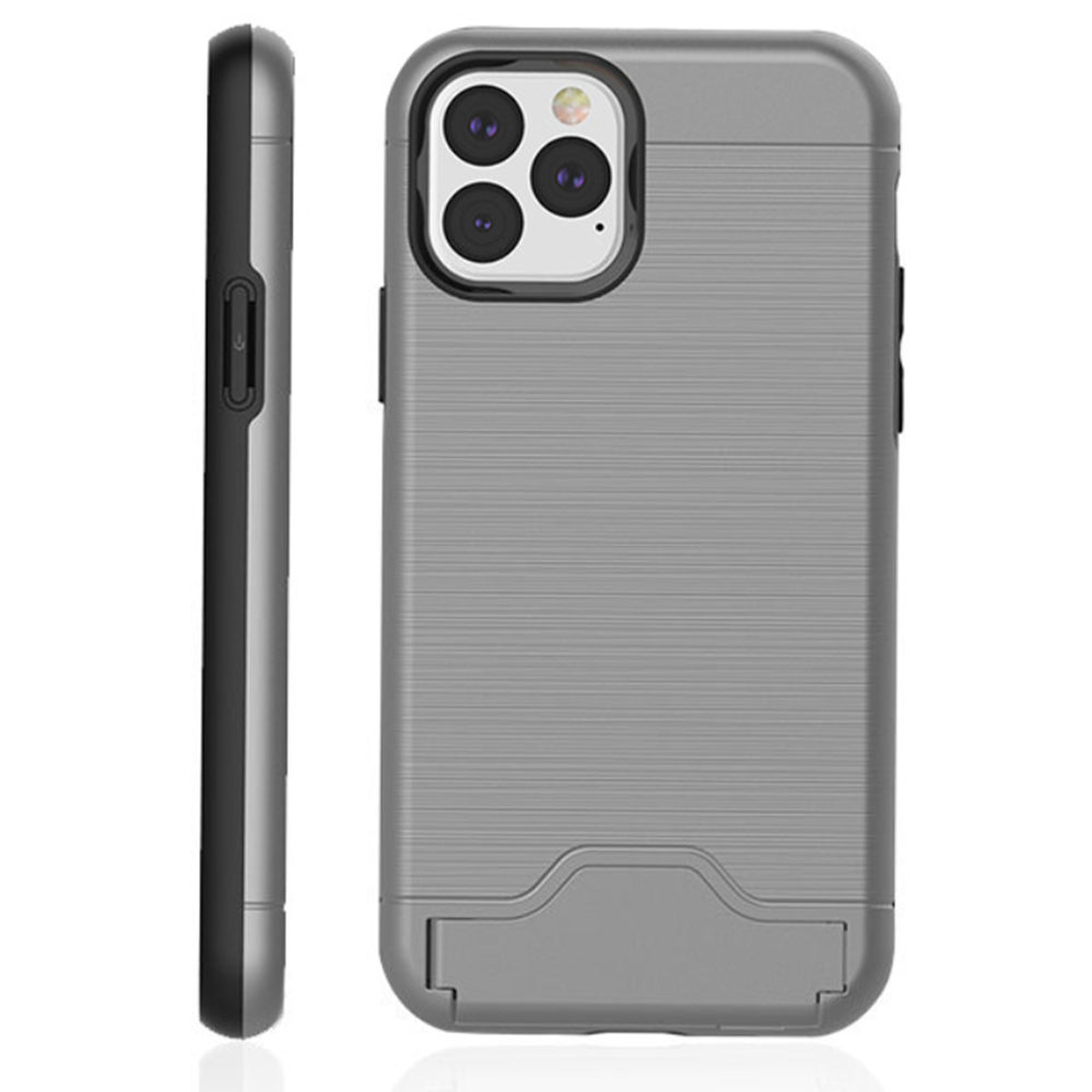 Brushed Armor Card Holder Case for iPhone 11/11 Pro/11 Pro Max 3