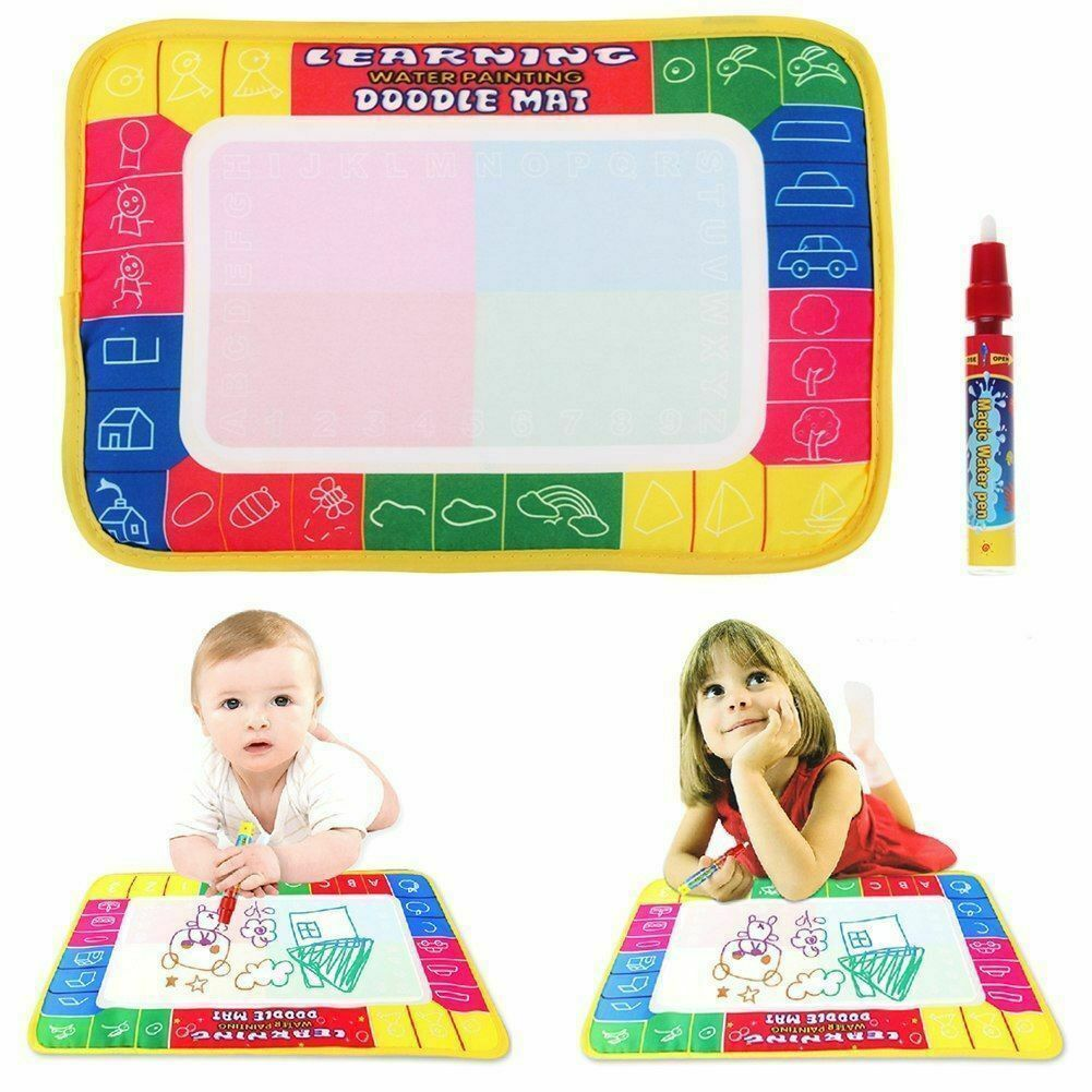 New Kids Toy Water Drawing Writing Painting Mat Baby Gyms Playmats Board 1 Magic Pens Doodle Mat