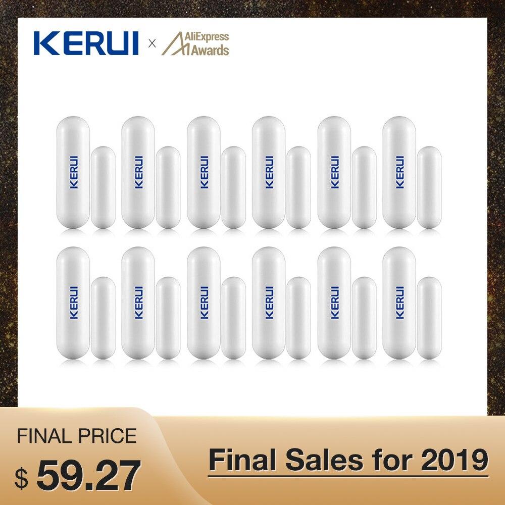Wholesales 12pcs Kerui Wireless Door Window Gap Sensor Anti-tamper For KERUI Wifi GSM Alarm System Alarm Accessory Illegal Arm