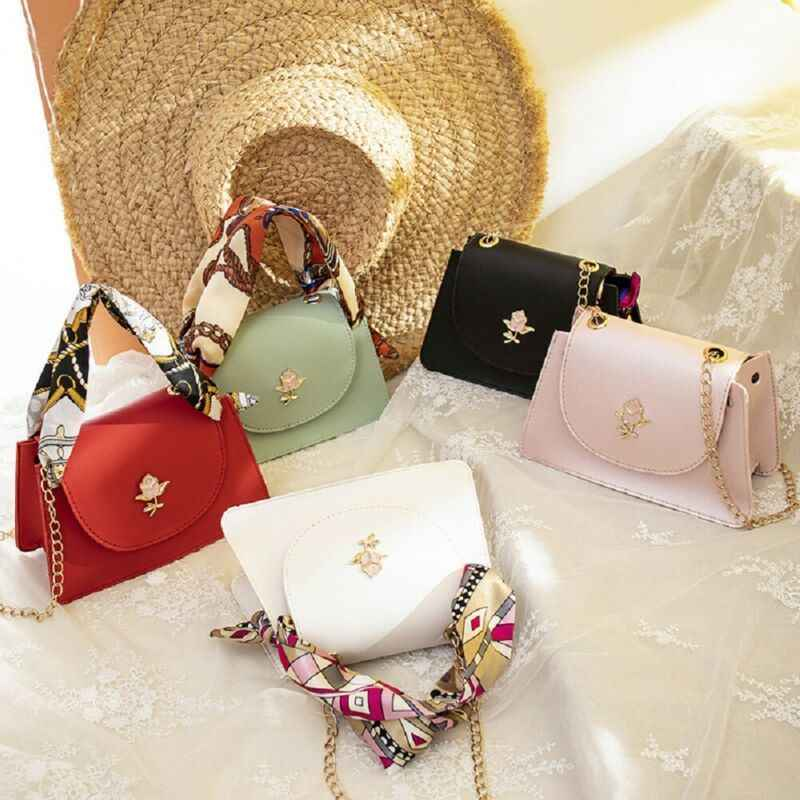5 Colors Women Fashion Texture Handbag Female PU Shoulder Messenger Crossbody Bag Coin Purses