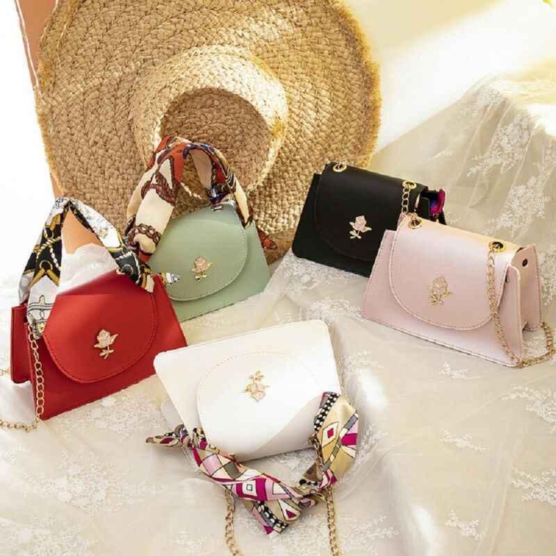 5 colores mujeres moda bolso con textura mujer PU hombro bandolera monedero monederos