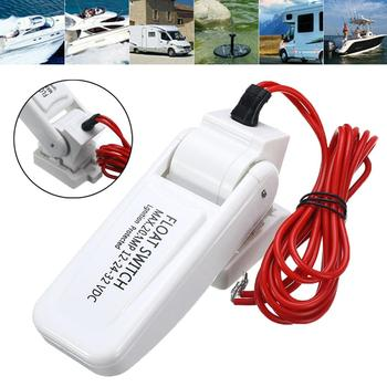12V Automatic Electric Boat Marine Bilge Pump Float Switch Water Level Controller DC Flow Sensor Switch liquid fluid water level float switch controller contactor sensor floating switch w 5 meter cable automatical controlling pump