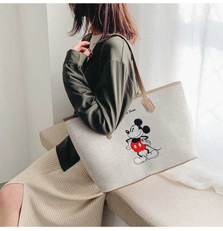 mickey ombro portátil saco de compras