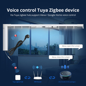 Image 3 - Zemismart Tuya Zigbee занавес трек Alexa Echo Google управление дома через Smart Life смарт вещи электрические шторы