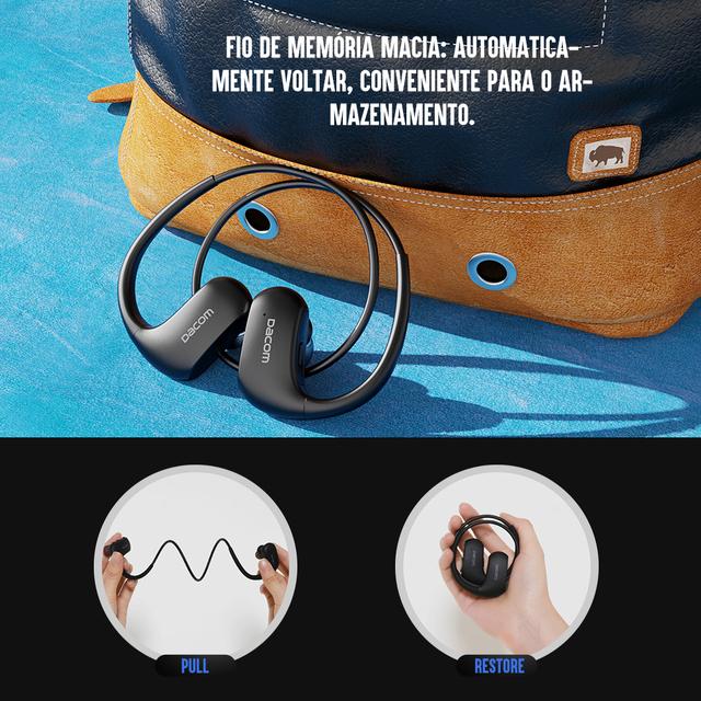 DACOM L05 Bluetooth Headphone Sports Headset Bass Sound Wireless Earphones IPX7 Waterproof Running Headphones for Samsung iPhone