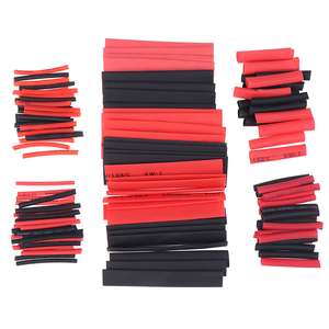 127Pcs/Set Polyolefin Shrinking Assorted Heat Shrink Tube Wire Cable Insulated Sleeving Tubing Set