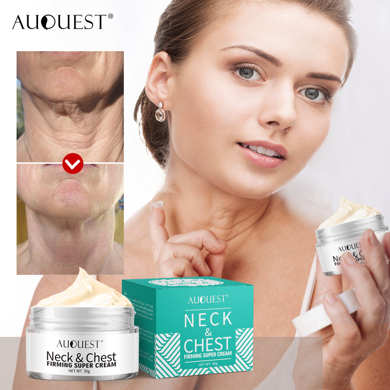 AuQuest Neck Cream Firming Rejuvenation Anti-wrinkle Firming Skin Whitening Moisturizing Neck Serum Tighten Neck Lift  Skin Care
