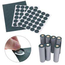 100 adet 1S 18650 Li ion pil yalıtım contası arpa kağıt pil paketi hücre yalıtım tutkal yama elektrot yalıtımlı pedleri