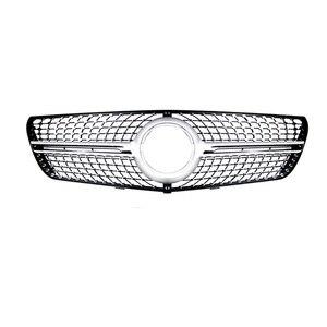 Image 3 - Für Mercedes V klasse W447 Diamant Grills vito V260 V250 Racing grille 2016 18 ohne emblem