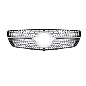 Image 3 - For Mercedes V class W447 Diamond Grills vito V260 V250 Racing grille 2016 18 without emblem