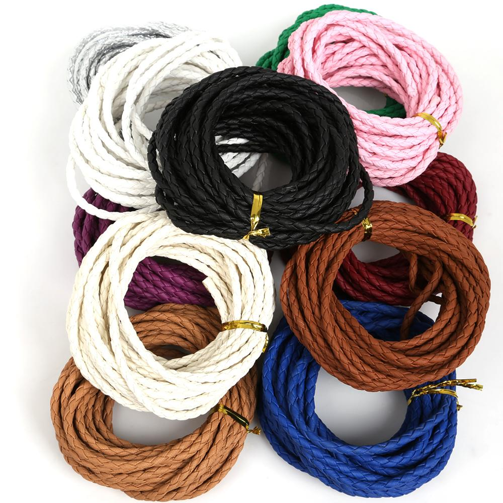 Leather Braided Cord Rope String Thread Bracelet Jewellery Making HandCrafts
