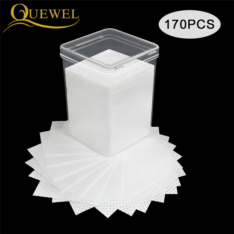 Lint-Free Paper Cotton Eyelash Extension Glue Remove Cotton Pad Glue Bottle Mouth Wipes Prevent Clogging Glue Cleaner Pads Tool