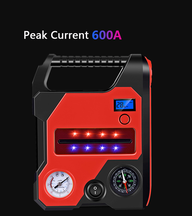 Car Jump Starter Booster <font><b>12V</b></font> 22000mAh <font><b>Power</b></font> <font><b>Bank</b></font> Car Starter Buster <font><b>For</b></font> Car Battery Portable Charger with Air Ppump Flashlight image