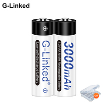 2 16 adet 3000mAh NI MH AA şarj edilebilir pil 1.2V AA pil için el feneri kamera oyuncak uzaktan kumanda ön şarjlı yüksek kapasiteli