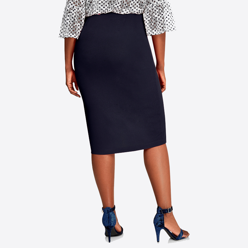 CACNCUT Big Size High Waist Bag Thigh Skirt Business Casual Skirt For Women 2019 Plus Size Bodycon Pencil Office Skirt Black 6XL 29