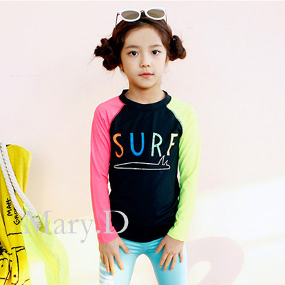 KID'S Swimwear GIRL'S Big Kid New Style Sun-resistant Long Sleeve Trousers Students Large Size Hot Springs Swimwear South Korea