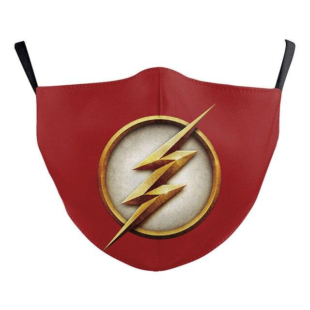 Superhero The Flash Thanos Iron Man Cosplay Face Mask Dustproof Adult Kids Masks 3