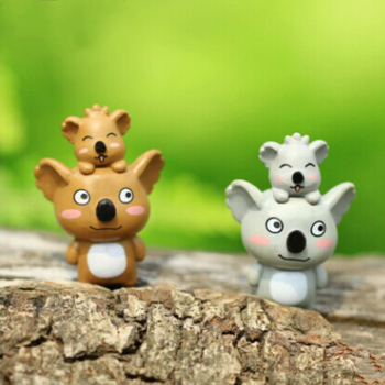 Miniature Animals Cartoon Mother and Child Koala Figurine Mini Fairy House Garden Miniatures Office Desk Decor 2020 DIY Gift image