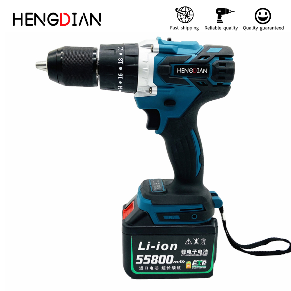Wireless brushless impact electric drill Makita lithium battery power tool 20 + 3 stepless speed change
