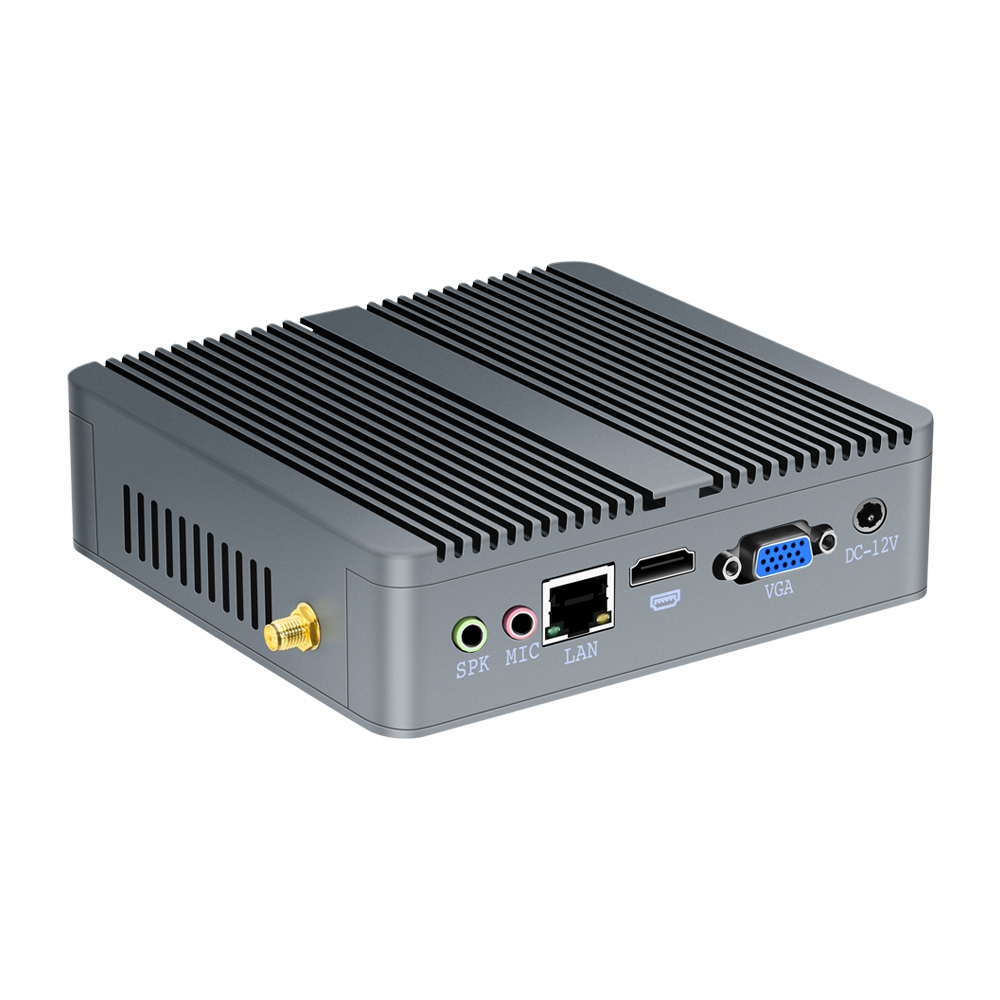 Mini PC Fanless Celeron N2930 J1900 Quad-Core Processor N2830 Win 7/8/10 HTPC WiFi HDMI 5*USB Nettop Office TV Box Computer