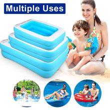 Семейный надувной бассейн над землей плавательный для детей