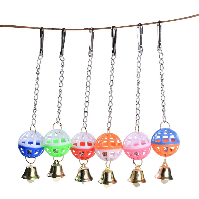 Cockatiel Parrot Chew Toys Hanging Bell Cage Toys For Parrots Bird Squirrel Funny Chain Bite Climbing Toy Pet Bird Supplies