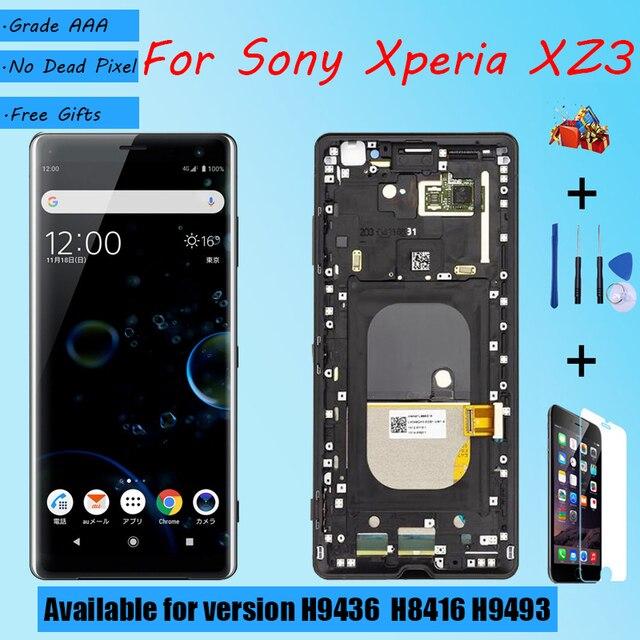 لسوني اريكسون XZ3 شاشة LCD الجمعية مع الجبهة حالة اللمس الزجاج ، لسوني اريكسون XZ3 H9436 H8416 H9493 شاشة LCD الأصلي