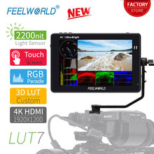 FEELWORLD LUT7 7 Inch 3D LUT Touch Screen 2200nits Camera Field Monitor 4K HDMI DSLR Monitor for Waveform VectorScope Histogram