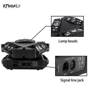 Image 2 - Mini LED Beam 9x10W Spider DMX512 Stage Effect Lighting Good For DJ Disco Party Dance Floor Nightclub And Christmas Decorations
