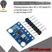 Ad9833 microprocessadores programáveis módulo de interface serial sine onda quadrada dds sinal gerador módulo 9833