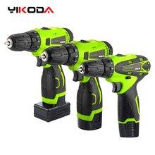 YIKODA 12V 16.8V 25V tournevis électrique sans fil perceuse Rechargeable batterie au Lithium Mini sans fil outils de pilote électrique