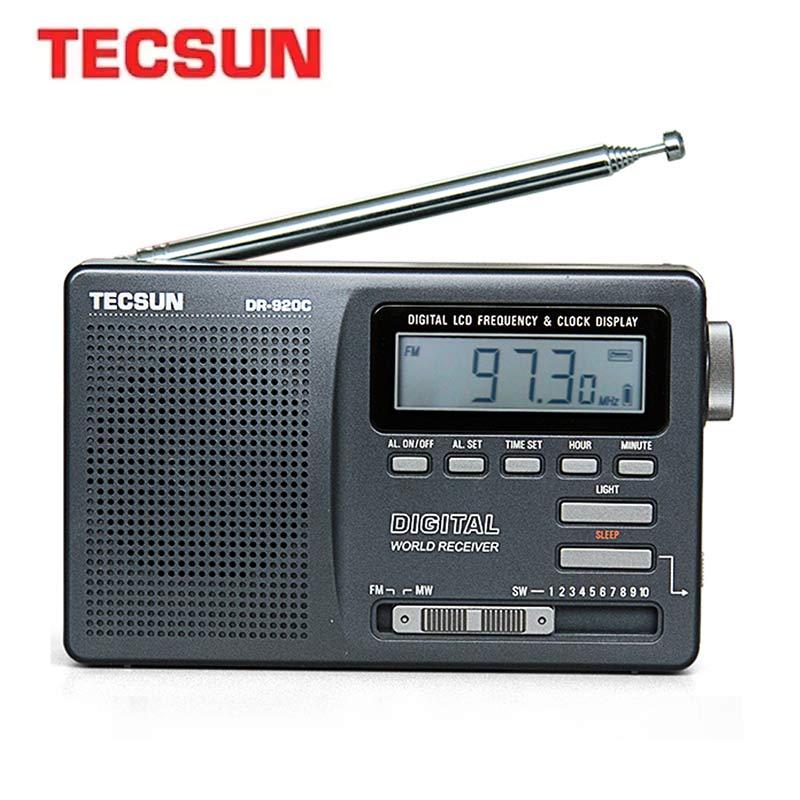 TECSUN DR-920C Digtal Fm Radio Display FM/MW/SW Multi Band Portable Radio FM:76-108MHz/MW:525-1610kHz/SW:5.95-21.85MHz Radio