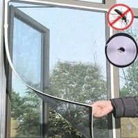 200cm x 150cm 비행 모기 창 그물 메쉬 스크린 룸 cortinas 모기 커튼 그물 커튼 수호자 플라이 스크린 삽입|모기망|   -