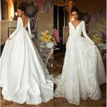 Элегантное ТРАПЕЦИЕВИДНОЕ кружевное свадебное платье vestido